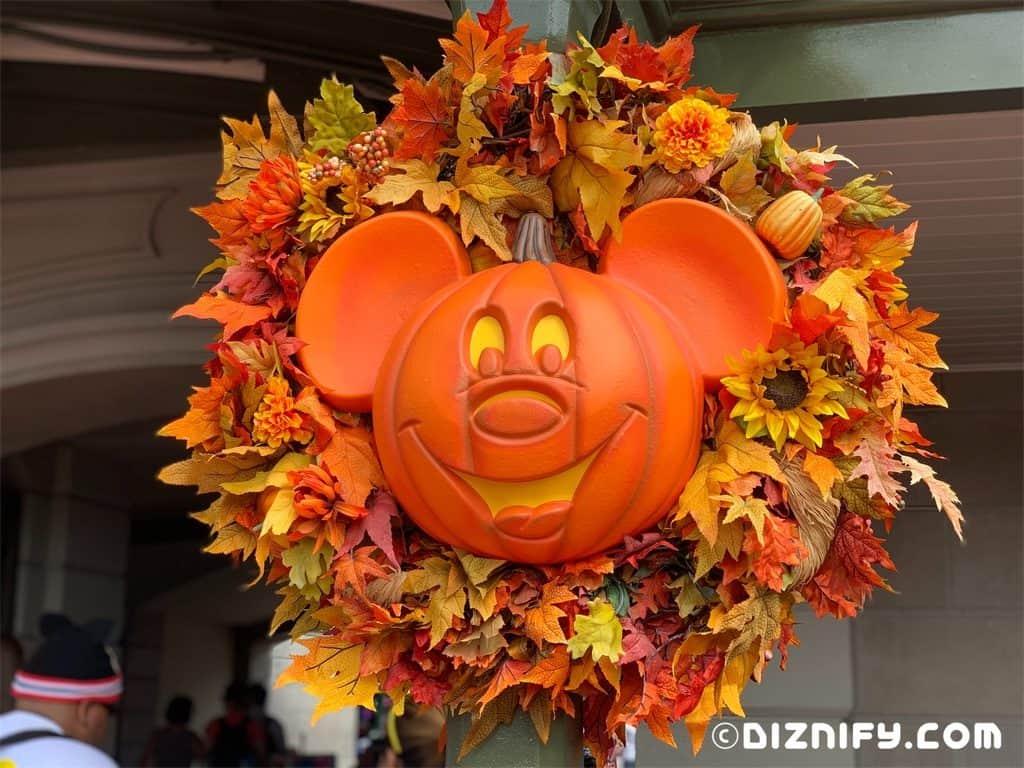 Disney Mickey Inspired Fall Wreath Decor Diznify